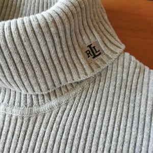 Ralph Lauren Gray turtleneck sweater size med.